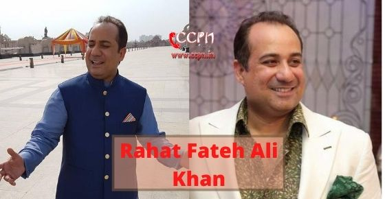 How to contact Rahat Fateh Ali Khan?