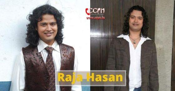 How to contact Raja Hasan?