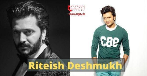 How to contact Riteish Deshmukh?