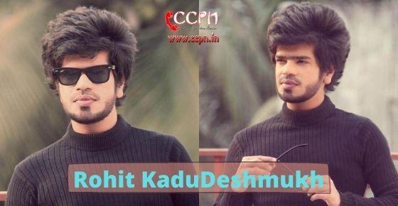 How to contact Rohit KaduDeshmukh?