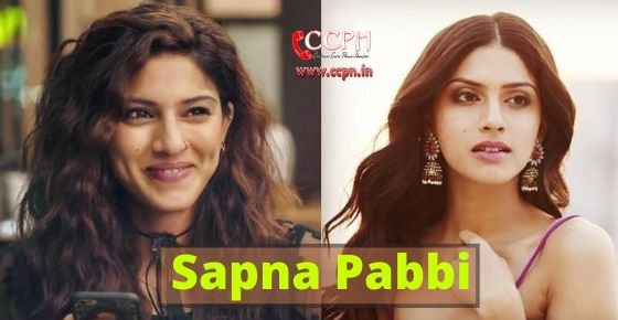 How to contact Sapna Pabbi?