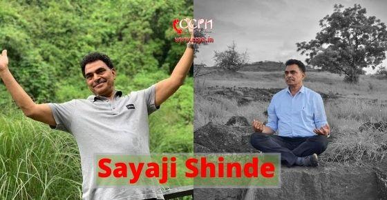 How to contact Sayaji Shinde?