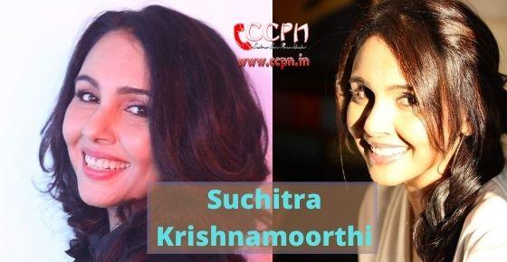 How to contact Suchitra Krishnamoorthi?
