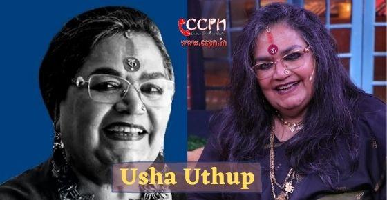 How to contact Usha Uthup?
