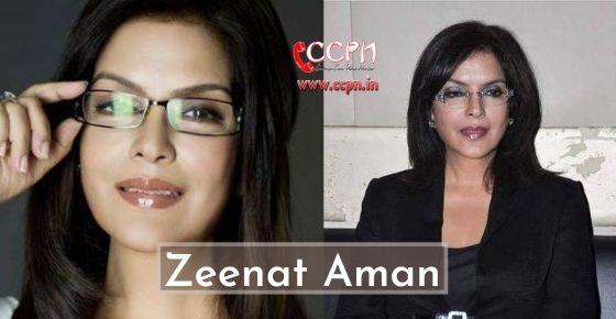 How to contact Zeenat Aman?