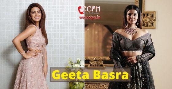 How to contact Geeta Basra?