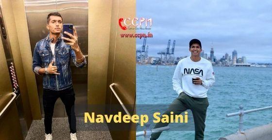 How to contact Navdeep Saini