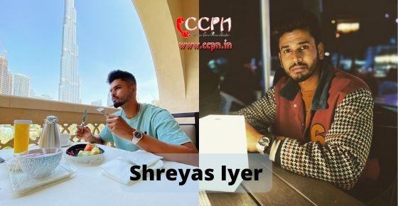 How to contact Shreyas Iyer