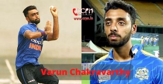 How to contact Varun Chakravarthy