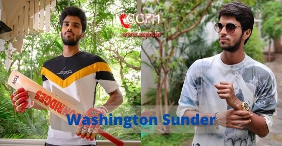 How to contact Washington Sundar