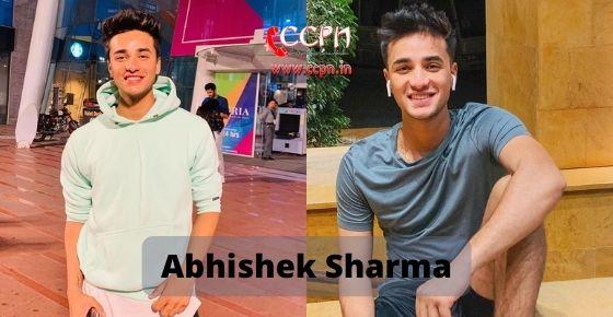 How to contact Abhishek Sharma