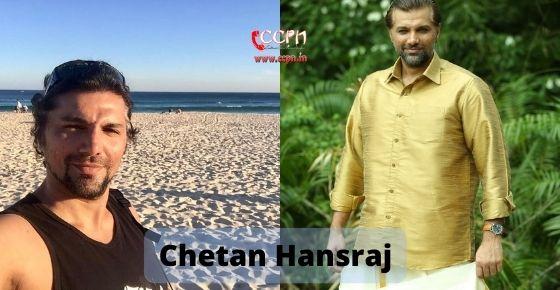 How to contact Chetan Hansraj