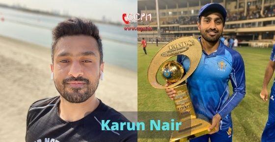How to contact Karun Nair