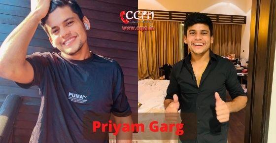 How to contact Priyam Garg