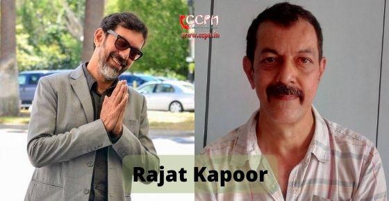How to contact Rajat Kapoor
