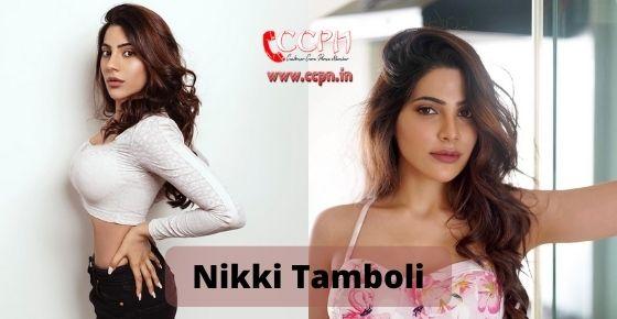 How to contact Nikki Tamboli