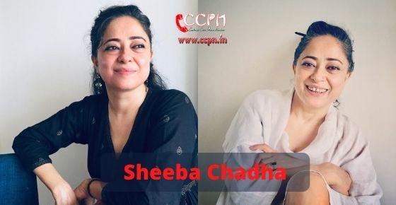 How to contact Sheeba Chaddha