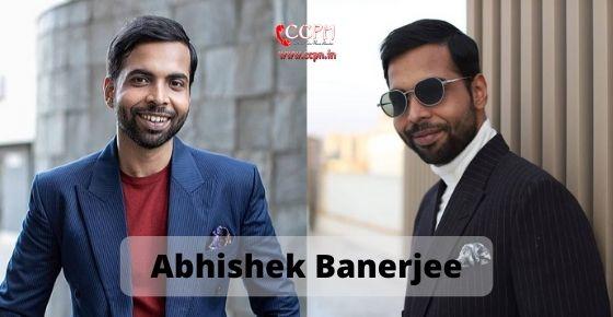 How to contact Abhishek Banerjee