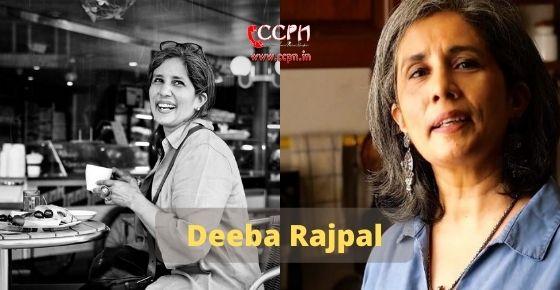 How to contact Deeba Rajpal
