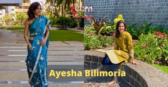 How to contact Ayesha Bilimoria