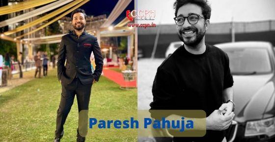 How to contact Paresh Pahuja
