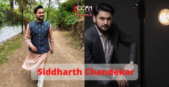 How to contact Siddharth Chandekar