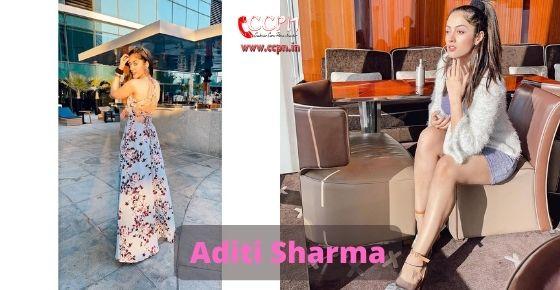 How to contact Aditi Sharma