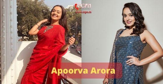 How to contact Apoorva Arora
