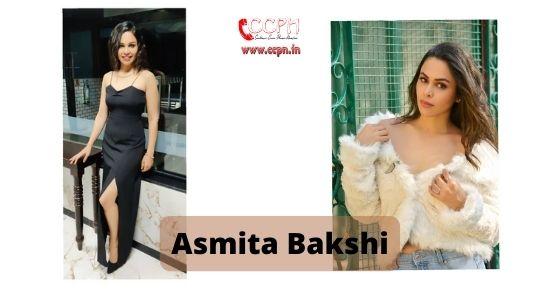 How to contact Asmita Bakshi