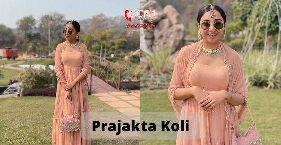 How to contact Prajakta Koli
