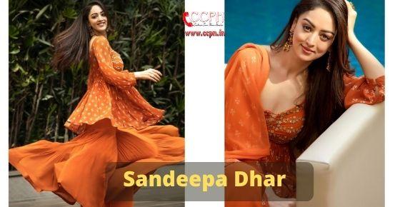 How to contact Sandeep Dhar