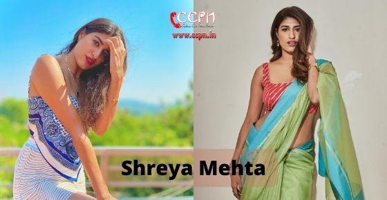 How to contact Shreya Mehta