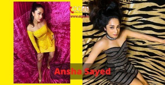 How to contact Ansha Sayed