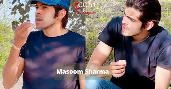 How to contact Masoom Sharma