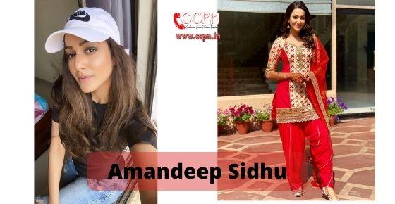 How to contact Amandeep Sidhu