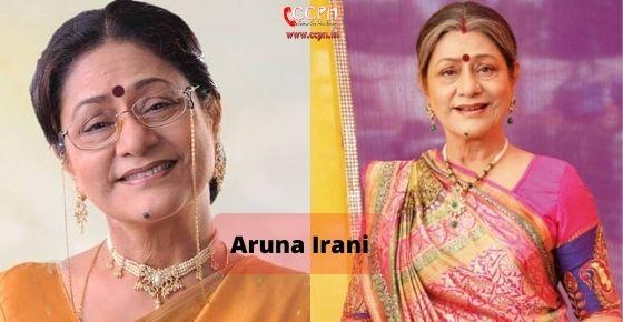 How to contact Aruna Irani