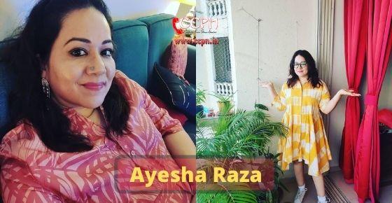 How to contact Ayesha-Raza