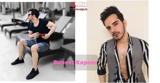 How to contact Buneet Kapoor