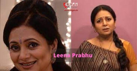 How to contact Leena-Prabhu