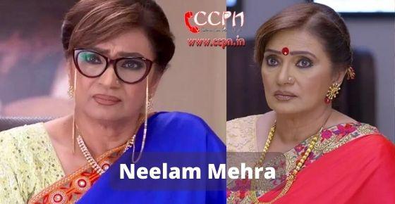 How to contact Neelam-Mehra