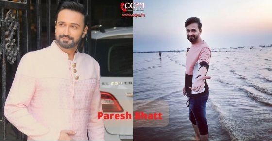 How to contact Paresh Bhatt