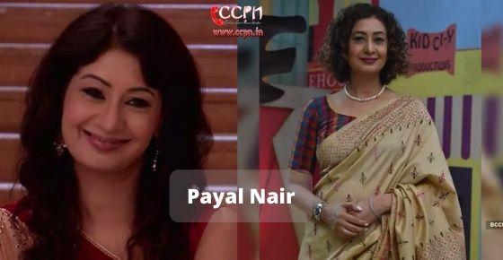 How to contact Payal Nair