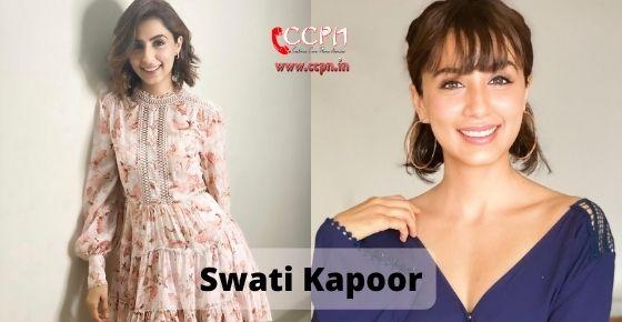How to contact Swati Kapoor