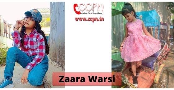 How to contact Zaara Wasim