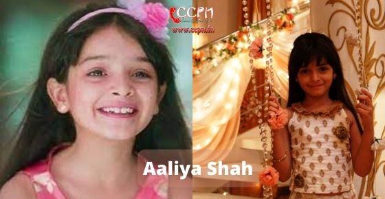 How to contact Aaliya-Shah