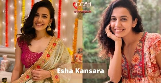 How to contact Esha Kansara