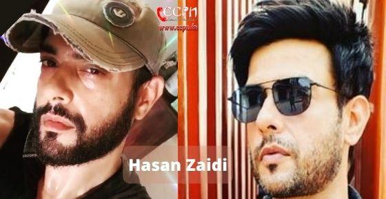 How to contact Hasan Zaidi