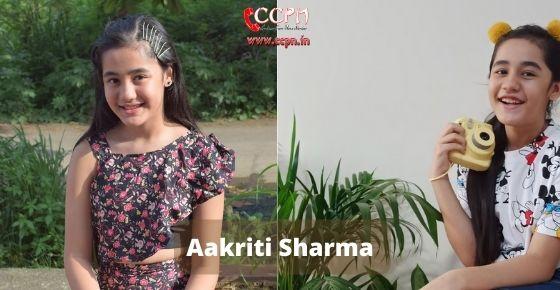 how to contact Aakriti Sharma