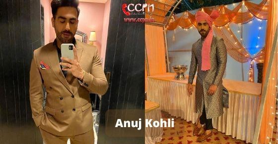 How to contact Anuj Kohli