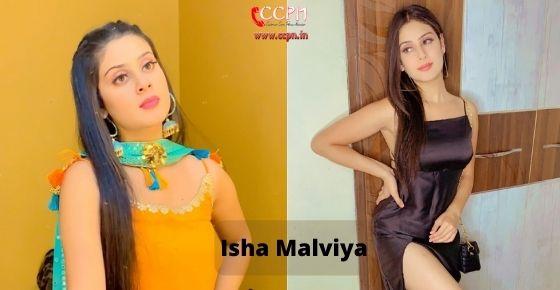 How to contact Isha Malviya